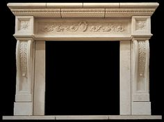 Plaster Fireplace Mantel - FP-165-PL - Classic Collection