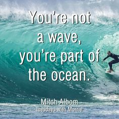 Tuesdays With Morrie, Mitch Albom, Ocean Quotes, Waves, Beach, The Beach, Sea Quotes, Beaches, Ocean Waves