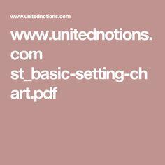 www.unitednotions.com st_basic-setting-chart.pdf