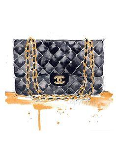 SHOPPING DIARIES: CHANEL 2.55 FLAP BLACK BAG (Perfume Bottle Wallpaper)