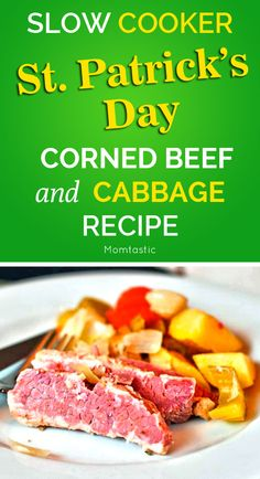 Slow cooker corned beef and cabbage recipe for St. Patrick's Day