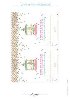 carte anniversaire manege