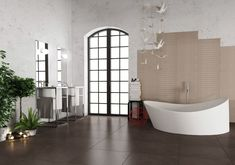 """Alzatina Ceramic Wall Tile - Champs Elysees Collection Light Gray Fumo / 2""""x20"""""""