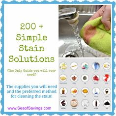 Stain Removal Tips: Over 200 Stain Removal Tips Based on the Stain!