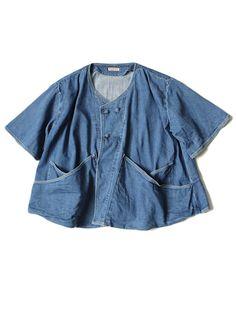 柔らかく肌触りの良いシャツデニムを使用...