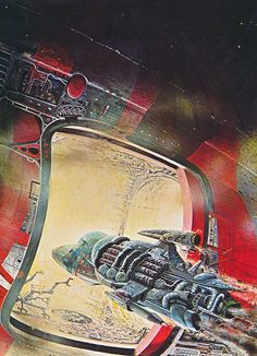 Painting by Bob Layzell from the book Space Patrol (1980)