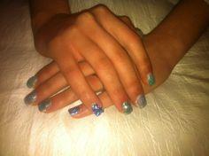 Pietre e glitter  Tonalità azzurro