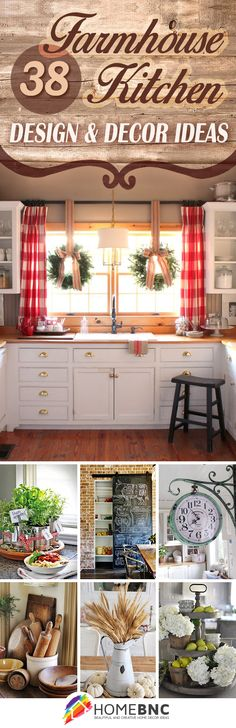 Kitchen Remodel Ideas Farmhouse Kitchen Decor Ideas - Farmhouse kitchen design tugs at the heart as it lures the senses with elements of an earlier, simpler time. See the best decoration ideas! Decor, Farmhouse Kitchen Decor, Home Diy, Farmhouse Kitchen, Country Decor, Decor Design, Kitchen Design Decor, Home Decor, Farmhouse Style Kitchen