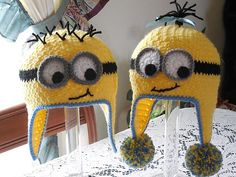 Ravelry: Minion Googly Eye Hat pattern by Marcia Peterson