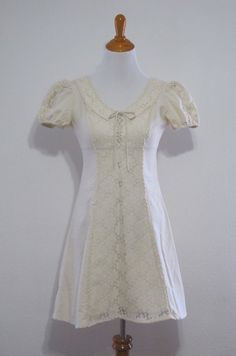 Vintage 60's Ivory Lace Dress // Hippie / Boho by downhomehoney. $34.00 USD, via Etsy.