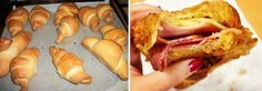 Cornetti con provola e pancetta