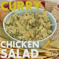 Use store-bought rotisserie chicken to make this Curry Chicken Salad recipe fast in a lunchtime pinch.