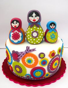 Matryoshka Nesting Doll Cake