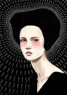 LessTalkMoreIllustration — darksilenceinsuburbia: Sofia Bonati// Canvas...