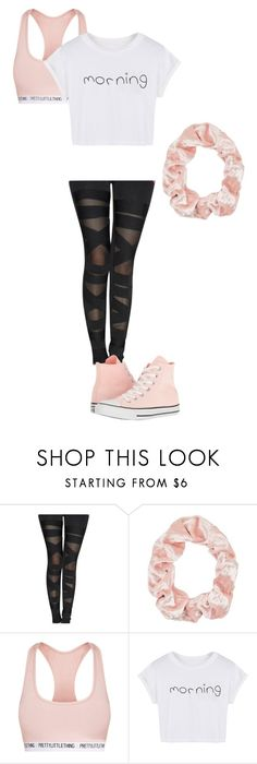 """""""Dance practice Outfit 1"""" by alicerougebara on Polyvore featuring Topshop, WithChic y Converse"""