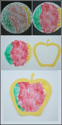 Fall Crafts & Activities: Coffee Filter Apples!