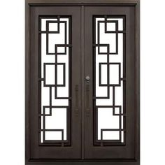 Florida Iron Doors 64 In. X 82 In. St Andrews Dark Bronze Right Hand  Outswing Painted Iron Prehung Front Door Privacy Glass And Hardware  SA6482FRO6ADB At ...