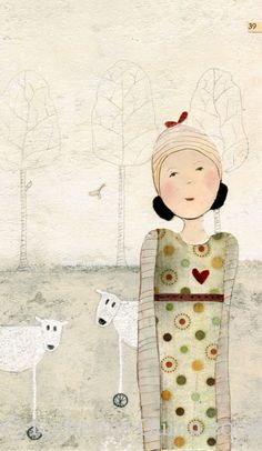 Everything depends on how near you stand to me I  ART PRINT  by Katherine Quinn