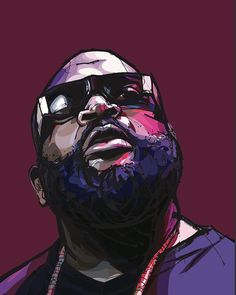 Cartoon Drawing Design Rick Ross Rap Hip Hop Poster - High-quality brand new poster Kim Kardashian, Rapper Art, Chance The Rapper, Architecture Tattoo, Hip Hop Artists, Dope Art, Prince, Drawing People, Cartoon Drawings