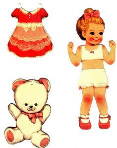 Lindíssimas bonecas de papel vintage, merecem uma impressão caprichada!!!               -->
