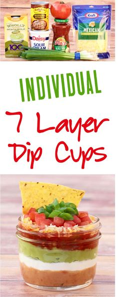 7 Layer Dip!  This easy appetizer for a party is so delicious and easy to make! | NeverEndingJourneys.com