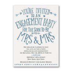 there couldnt be a more romantic way to invite guests to the engagement party - Who To Invite To Engagement Party
