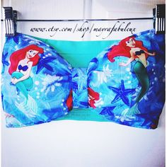 The Little Mermaid Bow Bandeau by mayrafabuleux on Etsy Disney Bathing Suit, Bathing Suits, Bow Bandeau, Summer Outfits, Cute Outfits, Mermaid Hair, Mermaid Style, Birthday Boy Shirts, Edm Festival