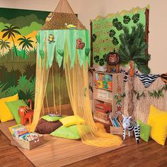 Jungle Reading Corner Idea - OrientalTrading.com