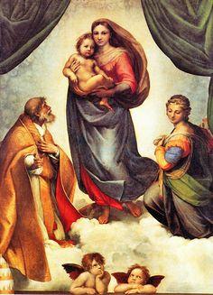 Raphael Sanzio, known as Raphael of Urbino, Italy - The Sistine Madonna, 1514.