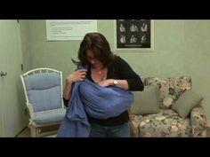 Breastfeeding in Public : Public Breastfeeding with a Ring Sling - YouTube