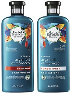 Herbal Essences Bio Renew Haircare Repair Argan Oil Of Morocco Shampoo Conditioner Set Net Wt 135 FL OZ 400 mL Per Bottle One Set * Learn more by visiting the image link. (This is an affiliate link) Shampoo Bar, Shampoo And Conditioner, Argan Oil Of Morocco Conditioner, Olive Oil Shampoo, Shampoo For Damaged Hair, Argon Oil, Lush Products, Styling Products, Lush Bath Bombs
