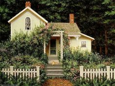 Another Fred Swan illustration. Great dollhouse cottage inspiration!!