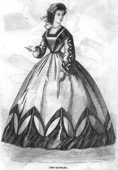 Civil War Era Clothing: Civil War Era Ladies' Dresses - February 1863 Peterson's Magazine