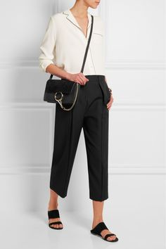 JOSEPH Saville cropped wool-crepe wide-leg pants  $415.76 http://www.net-a-porter.com/products/610625