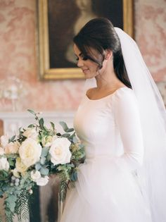 Lorraine and Paul's Christmas wedding at The K Club by Anna G Photography | One Fab Day Wedding Veils, Wedding Dresses, Wedding Flowers, Winter Wedding Decorations, Winter Weddings, Best Friend Bridesmaid, Winter Bridesmaids, Engagement Celebration, People Fall In Love
