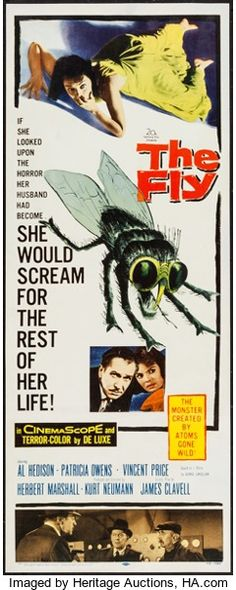 "Movie Posters:Science Fiction, The Fly (20th Century Fox, 1958). Insert (14"" X 36""). ScienceFiction.. ..."