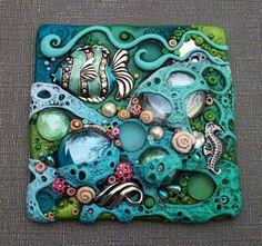 Mosaic Art Tile Coral Reef Tropical Fish and by MandarinMoon