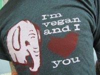 "Vegan Tees: ""I'm Vegan And I Love You"" Unisex T-Shirt and More"