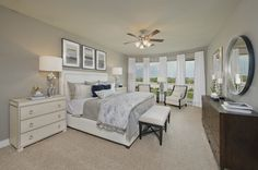 Cross Creek Ranch Model Home Open Daily - 4,098 Sq. Ft.- Master Bedroom - #PerryHomes #trustedbuilder #homebuying #homebuilding #CrossCreekRanch #FulshearTX #KatyISD #KatyHomes #KatyTX #HoustonHomes #openconcept #openfloorplan #familyhome #realestate #RelocatingtoHouston #lakesidecommunity #lakesideliving #landscaping #brickexterior #stoneexterior #masterbedroom #mastersuite #wallofwindows #masterretreat