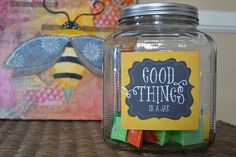 Gratitude & Love in a Jar ~ Free, Printable Labels ~ Start Your Own Good Things Jar for 2015