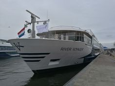 Beautiful River Voyager is docking in Amsterdam and waiting for the season.