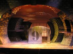 Urinetown scenic design by Beth Semler. That moment when you find out that a major element of your design has definitely already been done. And much better than you did it. Whatever, it's a school project. I'll live.