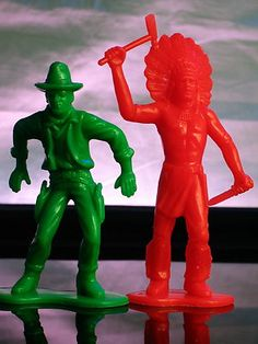 Plastic Cowboy & Indian Figures