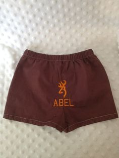 monogrammed Browning boxers by Fancydancyboutique on Etsy, $8.95