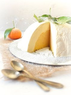 This is sooo gorgeous!! >> White Chocolate and Clementine Bombe  from Elizabeth