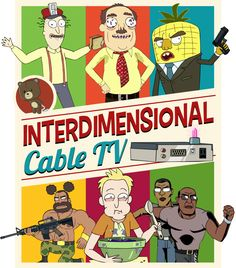 Interdimensional Cable TV by juzmental #Rick_And_Morty