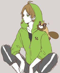 浦島坂田船 うらたぬき Vocaloid, Pretty Art, Anime Guys, Avatar, Geek Stuff, Fan Art, Rain, Drawings, Fictional Characters