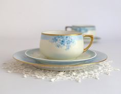 Vintage Austrian Cup Saucer and Plate Set by TheHeirloomShoppe