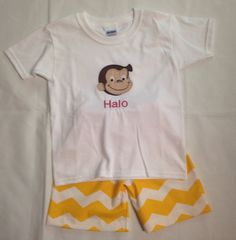 Brother/Sister Curious George Appliqued by CarolinasHopeChest