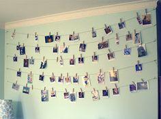 Dorm Room DIY and Crafts: Clothesline Picture Holder